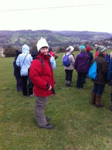 Our President, Pat, on a Cotswold walk